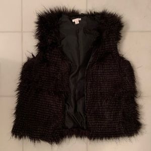 Xhilaration Black Faux Fur Vest